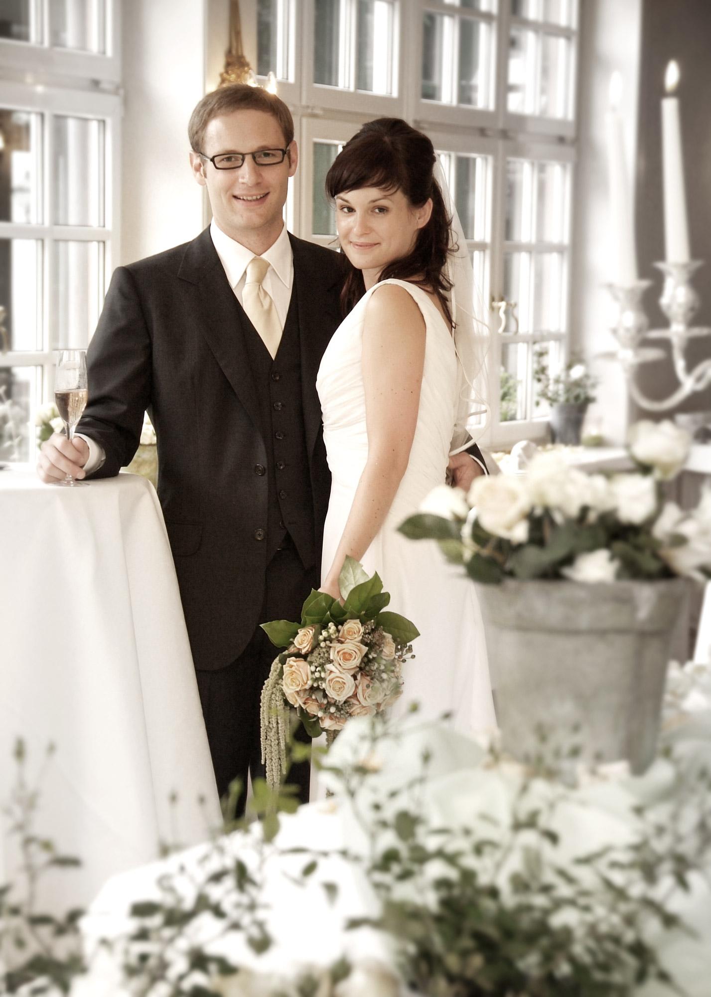 Hochzeitsportrait Ambiente Feierlichkeit